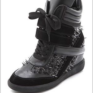 Monika Chiang Artemy black spiked sneakers